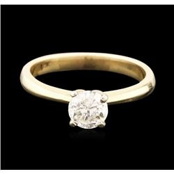 14KT Yellow Gold 0.83 ctw Round Brilliant Cut Diamond Solitaire Ring