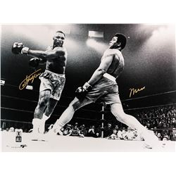 Muhammad Ali and Joe Frazier II - Black and White Print