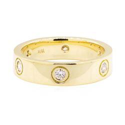 0.60 ctw Diamond Ring - 18KT Yellow Gold