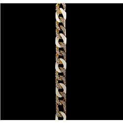 4.20 ctw Diamond Bracelet - 18KT Yellow Gold