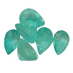 2.86 ctw Pear Mixed Emerald Parcel