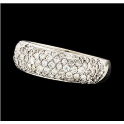 0.95 ctw Diamond Ring - 18KT White Gold