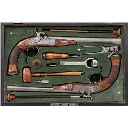 Pr. Continental Halfstock Perc. Dueling Pistols