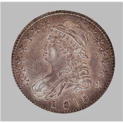 1818/7 BUST HALF DOLLAR, XF++ SCARCE NICE!