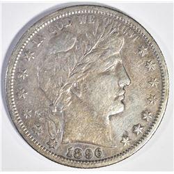 1896-S BARBER HALF DOLLAR, VF+ KEY COIN