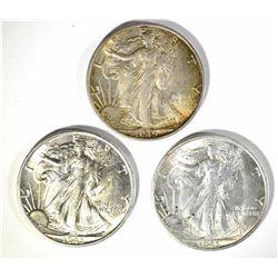 3-1945-S WALKING LIBERTY HALF DOLLARS, CH BU