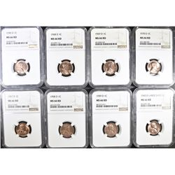 8-D MINT LINCOLN CENTS NGC GRADED MS-66 RED