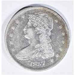 1837 REEDED EDGE CAPPED BUST HALF DOLLAR
