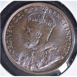1912 ONE CENT  CANADA   GEM BU