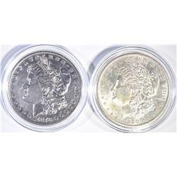 1890-S CH BU & 78-S BU CLEANED MORGAN DOLLARS