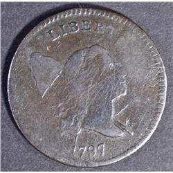 1797 HALF CENT  VF