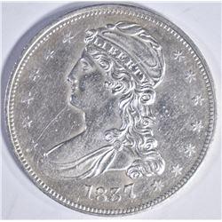 1837 BUST HALF DOLLAR REEDED EDGE