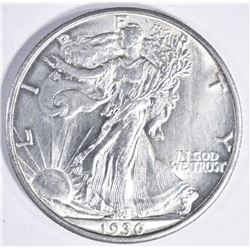 1936 D WALKING LIBERTY HALF DOLLAR GEM BU