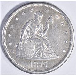 1875 CC TWENTY CENTS  AU/BU