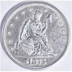 1875 TWENTY CENT CU BU SCARCE!!
