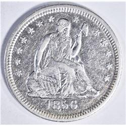 1856 O SEATED QUARTER AU