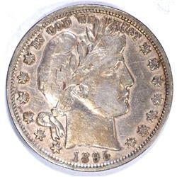 1895 BARBER HALF DOLLAR, XF