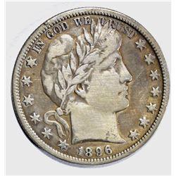1896-O BARBER HALF DOLLAR, FINE+