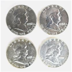 CH BU FRANKLIN HALF DOLLARS 1952 P&D & 2-55
