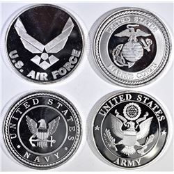 ARMY, NAVY AIR FORCE & MARINES