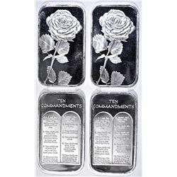 4-ONE OUNCE .999 SILVER  SPECIALTY BARS