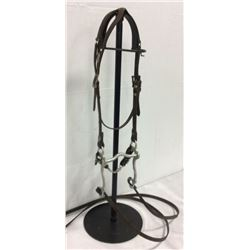 Vintage One Eared Bridle With Sterling Silver