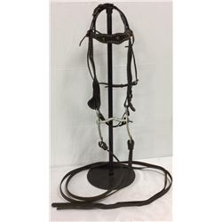 Vintage Spotted Bridle With Crocket Bit