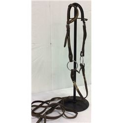 Vintage One-eared Bridle With Rawhide Accents