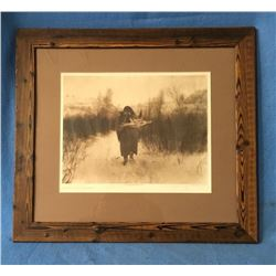 Curtis Framed Print. Going To Camp Apsaroke