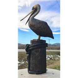 Life Size Bronze Pelican