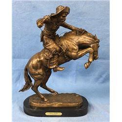 "Bronze ""Bronco Buster"" F. Remington"