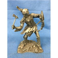 Pewter Figure Of Comanche Warrior