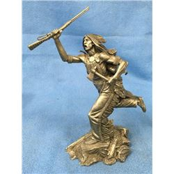 Pewter Figure Of Cheyenne Brave