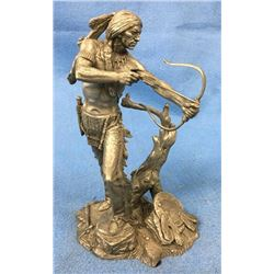 Pewter Figure Of Sioux Hunter