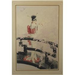 Antique Hand Signed Louis Icart Aquatint Etching