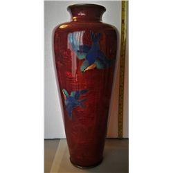 Beautiful Meiji Japanese Ginbari Shippo Vase