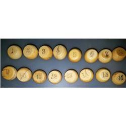 Early Gambling Pea Pill Box Set Of 16