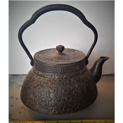Early Japanese Cast Iron Tea Pot
