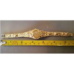 Ladies 14k Gold Nugget Watch 36 Grams