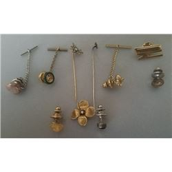 Collection Of 10 Tie Tacks, Tie Pins, Brooch Pin