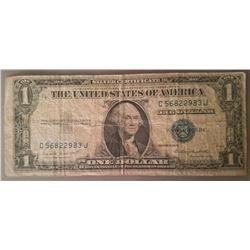 $1 Silver Certificate Series 1935 G