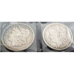 (2) 1889 Morgan Silver Dollars