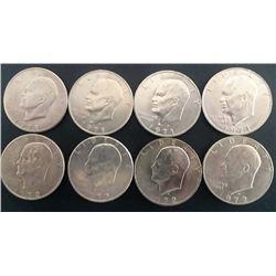 (4) 1971 & (4) 1972 Eisenhower Dollars