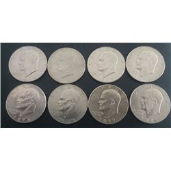 (8) Eisenhower Dollars