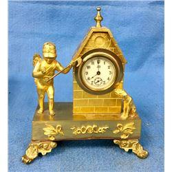 Bronze Dore' Figural Clock