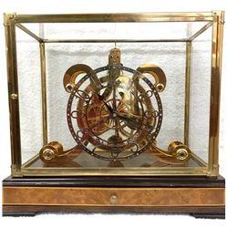 Rare Unusual Fuzee Skeleton Clock