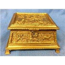 19th Century Bronze Dore' Hinged Box
