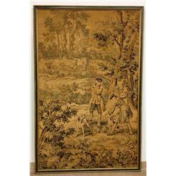 Large Framed Scenic Tapestry