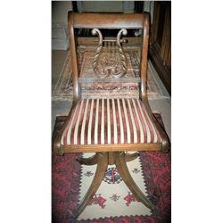Circa 1920's Duncan Phyfe Piano/organ Swivel Chair