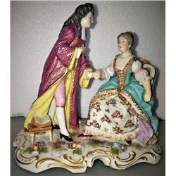 Rare Hand Painted Meissen Figurine Group